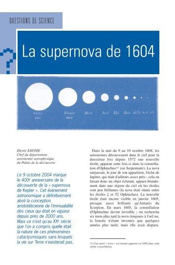 par Denis SAVOIE, novembre 2004 (n°322) - Palais de la découverte