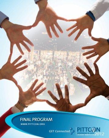 2012 Final Program - Pittcon
