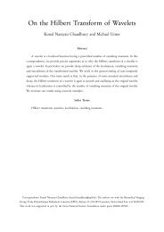 On the Hilbert Transform of Wavelets - Biomedical Imaging Group ...