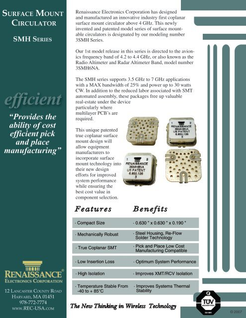 SMH Series - Renaissance Electronics Corporation