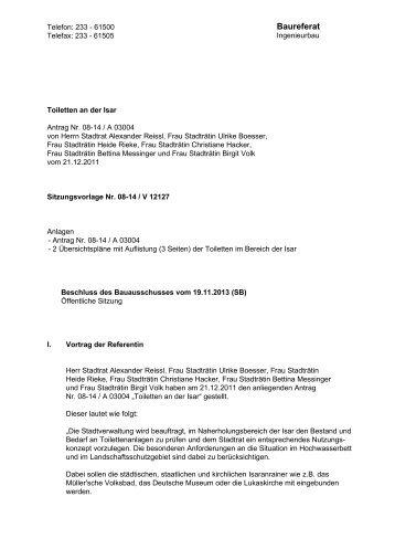 BauA Beschlussvorlage - RIS