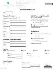 Project Engagement Form Contact Information Additional Contact ...