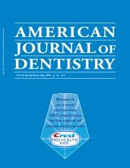 Vol. 18, Special Issue, July, 2005 - the  American Journal of Dentistry
