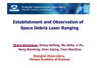 Establishment and observation of space debris laser ranging system
