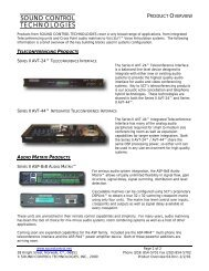 Product Overview - Sound Control Technologies Inc