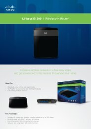 Linksys E1200 I Wireless-N Router - Standard Bank UCount