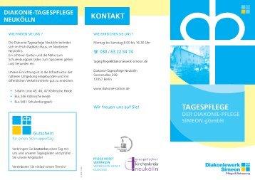 TAGESPFLEGE DEr DiAkoniE-PFLEGE SimEon gGmbH  konTAkT