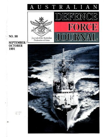 ISSUE 90 : Sep/Oct - 1991 - Australian Defence Force Journal