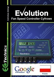 Fan Speed Controller Cyfrowe - Ecotechnics