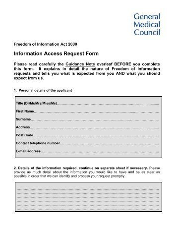 Medical Provide Network Information Request Form Rev