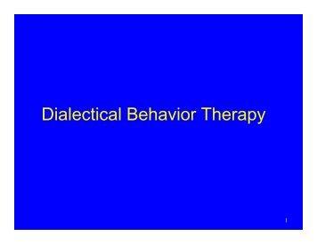 dialectical behavior