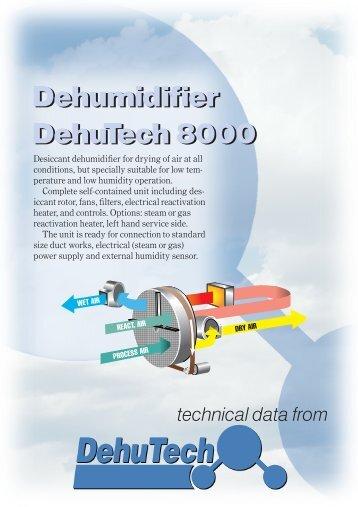 Dehumidifier DehuTech 8000 Dehumidifier DehuTech 8000 - Merx AS