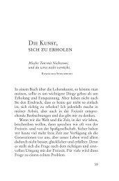 Die Kunst, sich zu erholen - Buchhandel.de
