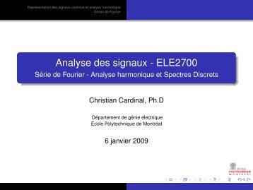 Série de Fourier - Cours - École Polytechnique de Montréal