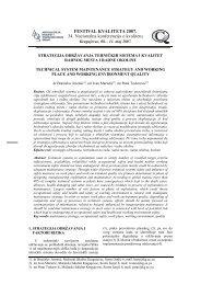 strategija održavanja tehnickih sistema i kvalitet radnog mesta i ...