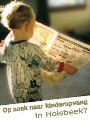 Brochure kinderopvang - Holsbeek