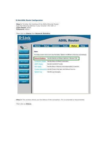 D-link ADSL Router Configuration - Jlac