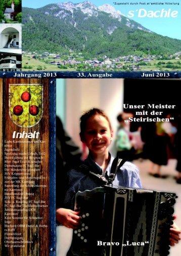 Jahrgang 2013 33. Ausgabe Juni 2013