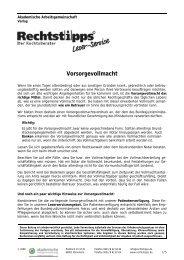 Vorsorgevollmacht - Steuertipps.de