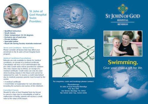 Swimming  - St John of God Health Care