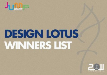 DESIGN LOTUS 2011 WINNERS LIST - Adfest