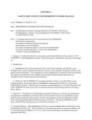 APPENDIX A - Sample Ship's Notice of Training - Navy ROTC