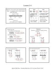 2-5 Solving Proportions - Math Slide Show