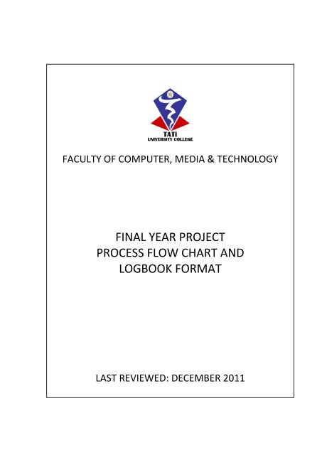 Final Year Project Process Flow Chart And Logbook Format