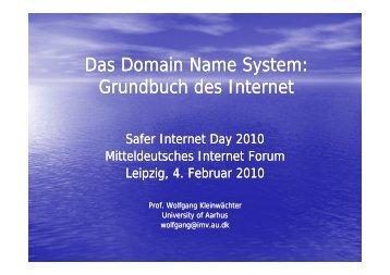 Das Domain Name System: Grundbuch Grundbuch des Internet des ...