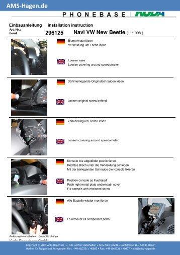 Navi VW New Beetle - AMS Hagen