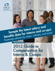2012 Guide to Compensation for Interns & Co-ops - National ...