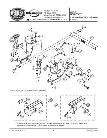 PL Mount Kit UT Ford Super Duty F-250/350/450/550 2005-07 #33259