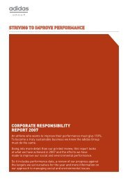 CORPORATE RESPONSIBILITY REPORT 2007 - adidas Group