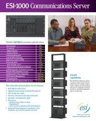 ESI-1000 Communications Server spec sheet