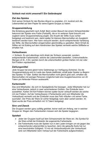 Geländespiel Farbkarten - Tobias Haerter