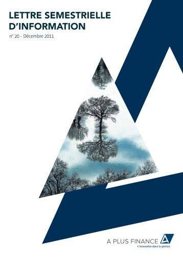 Lettre d'information 2011 S2 - Haussmann Patrimoine
