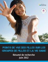 points de vue des filles sur les groupes de filles et la vie saine