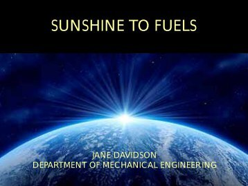 Sunshine to Fuels