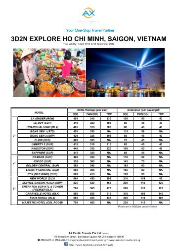 3d2n explore ho chi minh, saigon, vietnam - AX Exotic Travels