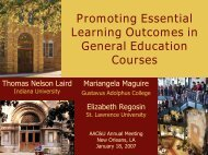 Promoting Essential Learning Outcomes in General Education - NSSE