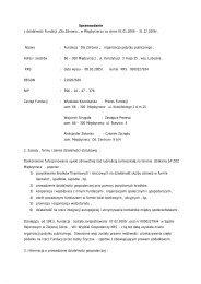 Sprawozdanie z działalności Fundacji - Wyszukiwanie Organizacji ...
