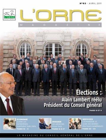 élections : - Conseil Général de l'Orne