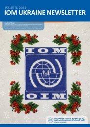 ISSUE 3, 2011 IOM UkraInE nEwSlEttEr