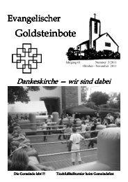 Okt..-Nov. 2011 - Dankeskirchengemeinde Goldstein