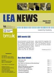 LEA NEWS Ausgabe 1/2011 - Leadership Academy