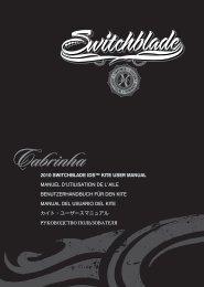 2010 SWITCHBLADE IDS™ KITE USER MANUAL ... - Cabrinha