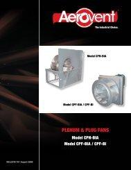 PLENUM & PLUG FANS - Aerovent