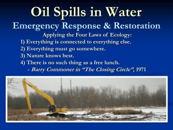 Oil Spills in Water - U.S. National Response Team (NRT)