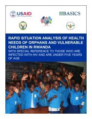 Rapid Situation Analysis of Health Needs of Orphans and ... - basics