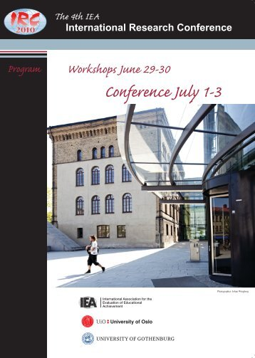 University of Oslo Workshops June 29-30 Conference July 1-3 ...
